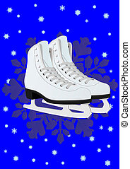 Women's skates for figure skating - Winter sport. Women's...