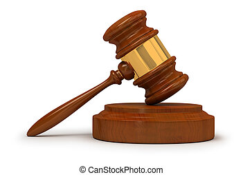 judge gavel - Judge gavel . 3d image. Isolated white...