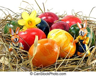 Easter eggs & bunny - Shiny easter eggs & bunny decorations...