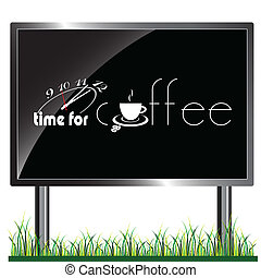 billboard with time for coffee illu