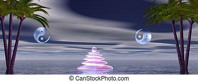 ying yang zen - landscape zen and ying yang