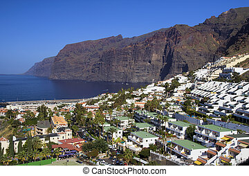 Los Gigantes in Tenerife - City of Los Gigantes in Tenerife,...