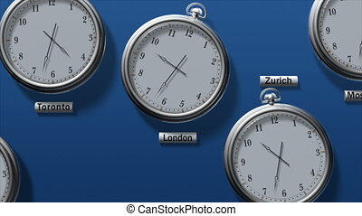 Time zones - Different time in global financial centers
