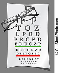 eye charts and glasses illustration