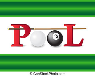 pool billiards  illustration