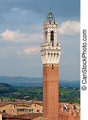 """""""Torre del Mangia"""" tower in Siena, Italy"""