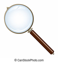 old magnifying glass - An image of a nice old magnifying...