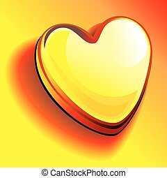 vector heart of gold