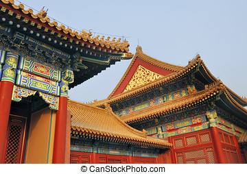 Roofs at the Forbidden City, Beijing, China