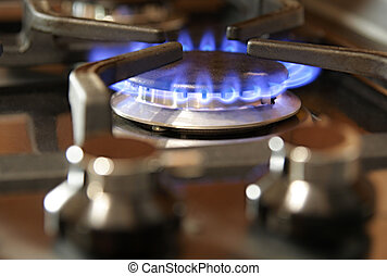 Gas cooker burner - Rapid burner from a gas range cooker