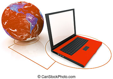 Laptop Connected To World
