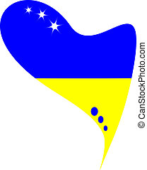 ukraine in heart. Icon ukraine flag - ukraine in heart. Icon...