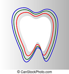 Tooth In Circle protection Isolated - Tooth In Circle triple...