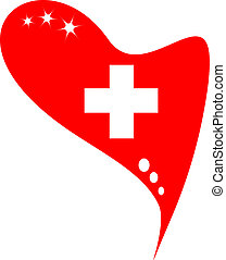 switzerland in heart flag - switzerland in heart Icon of...