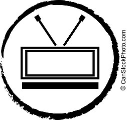 television abstract cartoon symbol