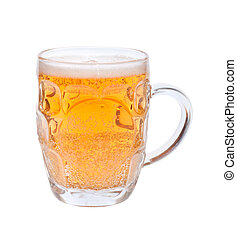 pint of beer, isolated on the white background