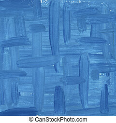 blue abstract painted on canvas