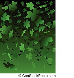 Falling clovers background