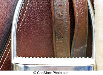 Closeup of a Riding Stirrup - A close up view of a horse...