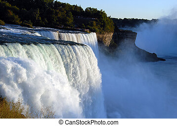 Niagara Falls New York - scenic Niagara Falls in New York...
