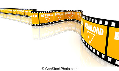 Download film - 3D Segment color film with word download