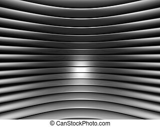 Aluminum abstract silver curve stri