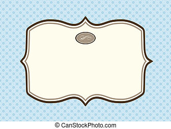 Vector Blank Blue Frame and Pattern
