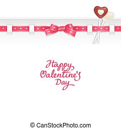 Valentine candy background - Valentine background decorated...