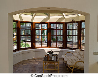 Sunny solarium conservatory sun room - Inside a beautiful...