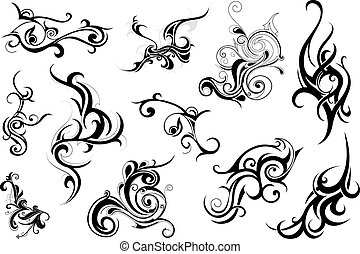 Tribal art - Set of elegant tribal art elements