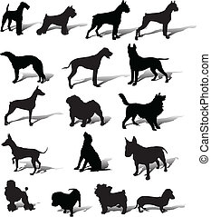 Dogs vector slhouette