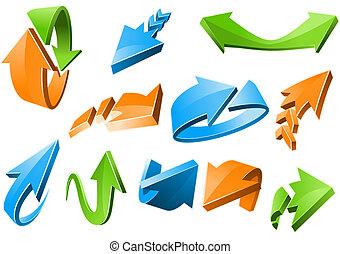 3D Arrow Signs