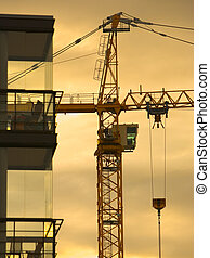 Construction Crane Silhouette