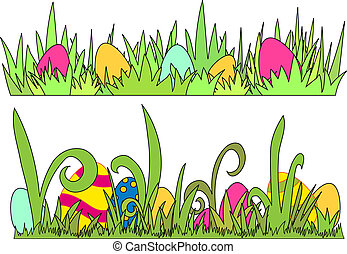 Easter Egg border - vector