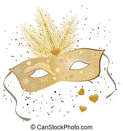 venetian mask - vector illustration of a carnivale mask on...