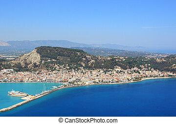 Aerial view on Zakynthos island Greece