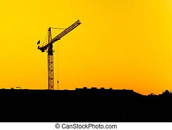 Construction Crane - Crane at a construction site