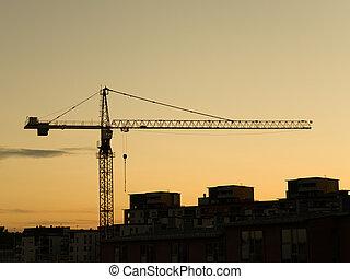 Construction Crane - Crane at a construction site