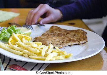 Wiener Schnitzel and Potatoes, Austria - Wiener Schnitzel...
