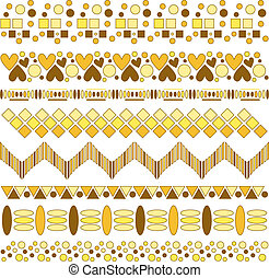Yellow and bown vector trims