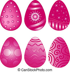 Pink Vector  Easter Egg Collection
