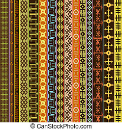 Texture with ethnic geometrical ornaments, colored African...