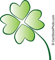 Four Leaf Clover - Isolated four leaf clover