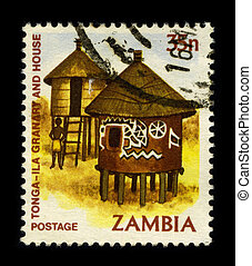 Postage stamp. - ZAMBIA - CIRCA 1980: A stamp dedicated to...