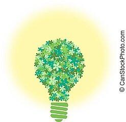 flower bulb - green flower bulb