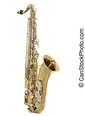 Tenor Saxophone - Tenor saxophone on a white background