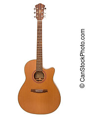 Acoustic Guitar - Acoustic guitar on white