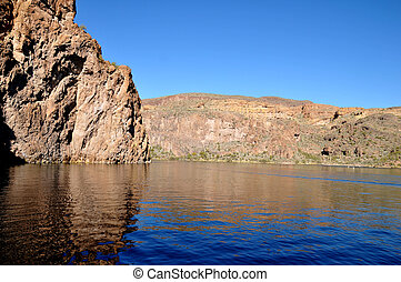 Canyon Lake, Arizona - View of one of many rock formations...