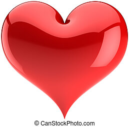Red heart love symbol - Heart Love red glossy symbol....