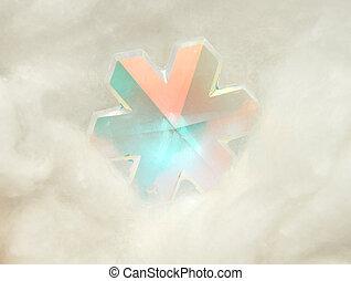 vidro, estrela, algodão